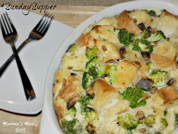 Broccoli Mushroom Cheese Strata #SS (1)