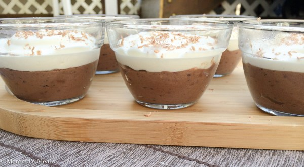 Black and White Blueberry Mousse