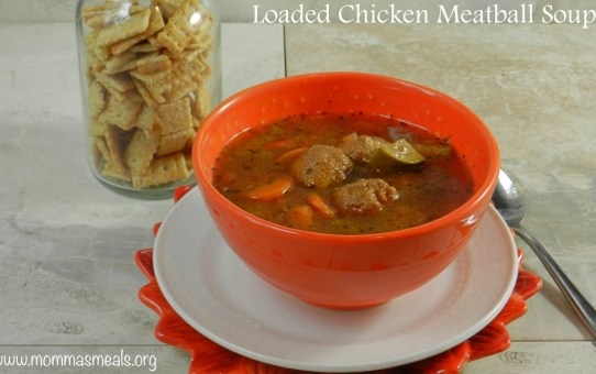 Loaded Chicken Meatball Soup