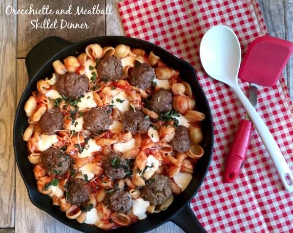 Orecchiette and Meatball Skillet Dinner