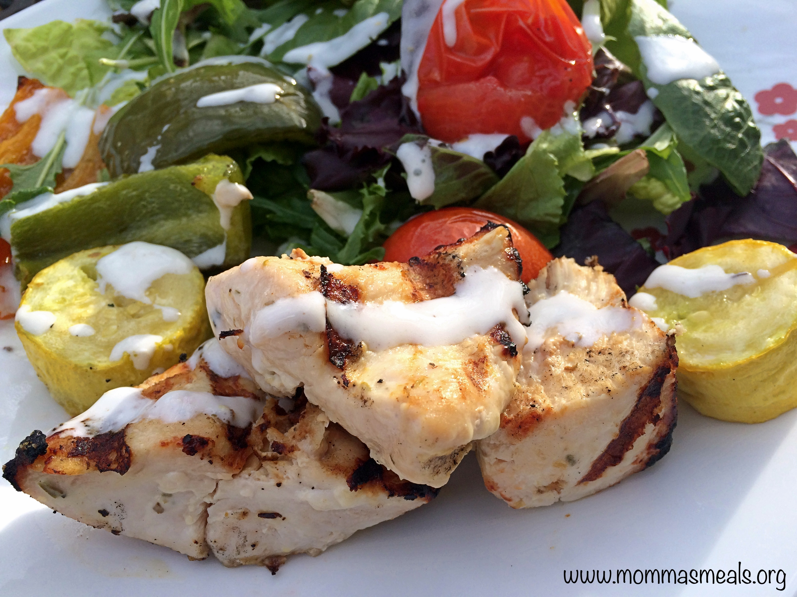 Lemon Yogurt Herbed Chicken Kabobs