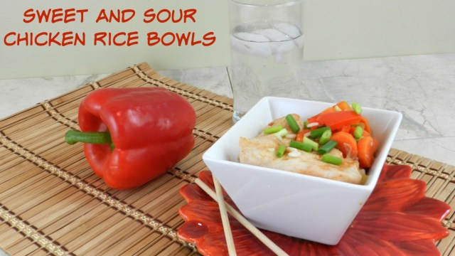 Sweet and Sour Chicken Rice Bowls