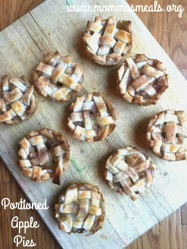 Portioned Apple Pies