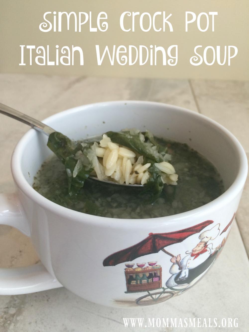 Simple Crock Pot Italian Wedding Soup - Momma\'s Meals