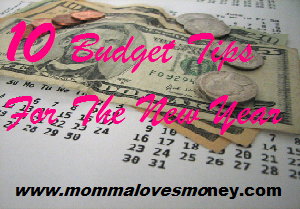budget tips - new year