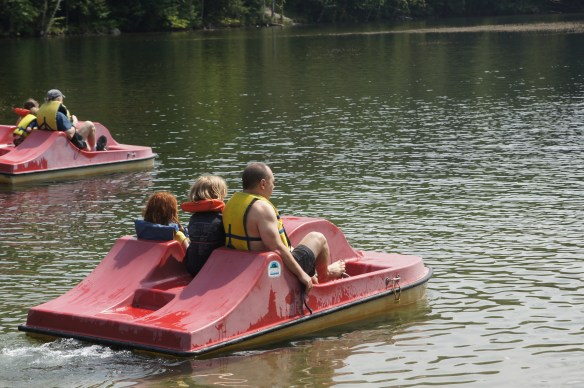 Paddle boats are fun...for the children who get to just ride.