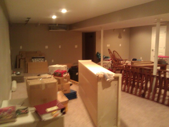 Our basement now.