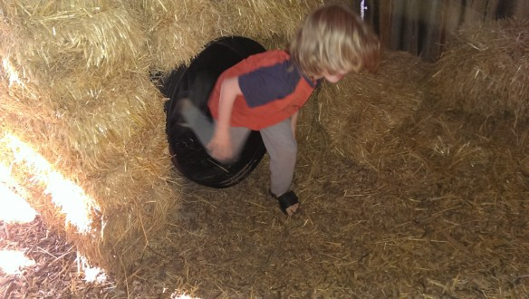 The hay bale maze was fun.