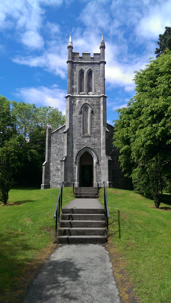 The chapel that was moved to Bunratty Folk Park, stone by stone.