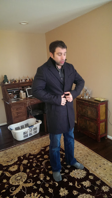 """B's beautiful new coat that came with the """"free vest."""""""