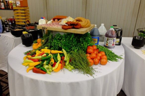 Some of the food we had to use for our meal.