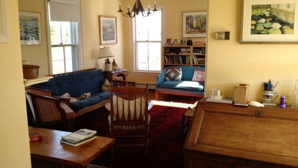 The living room where adults would gather in the evening to visit and laugh.