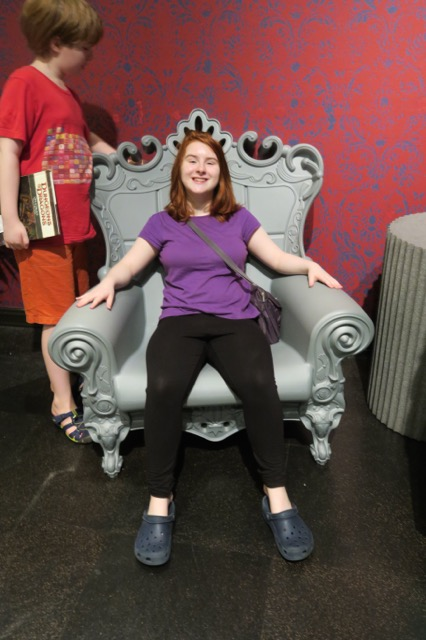 The throne at the museum.