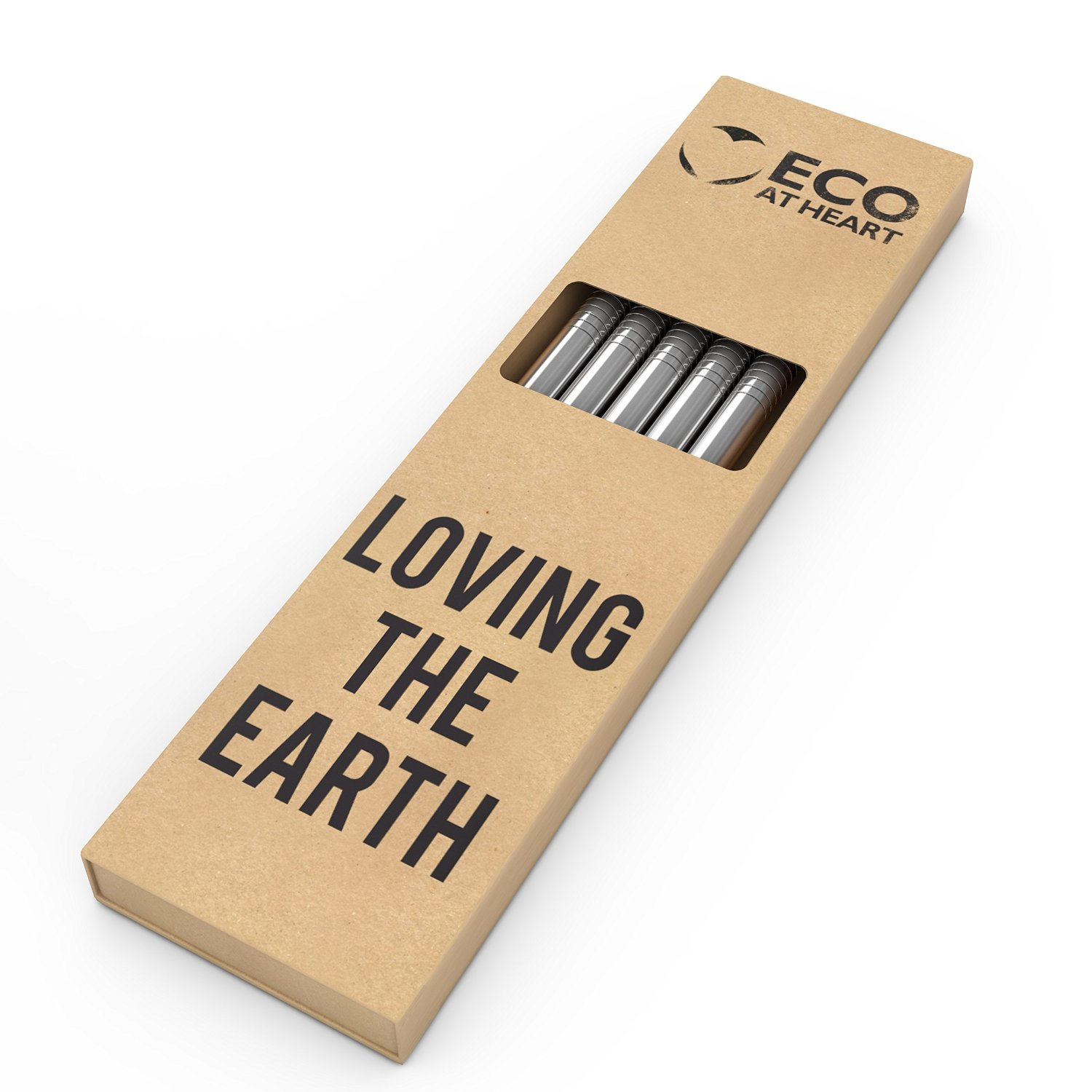 Eco At Heart Stainless Steel Straws