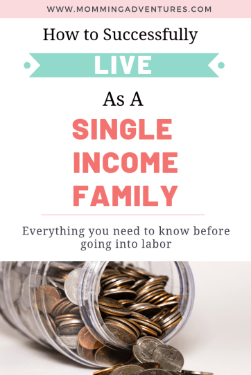 Living as a single income family. Learning to be a stay at home mom with only one income.