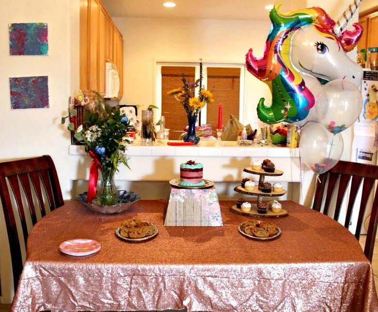 Unicorn Dessert Table www.mommininapinch.com/unicorn-rainbow-birthday-party