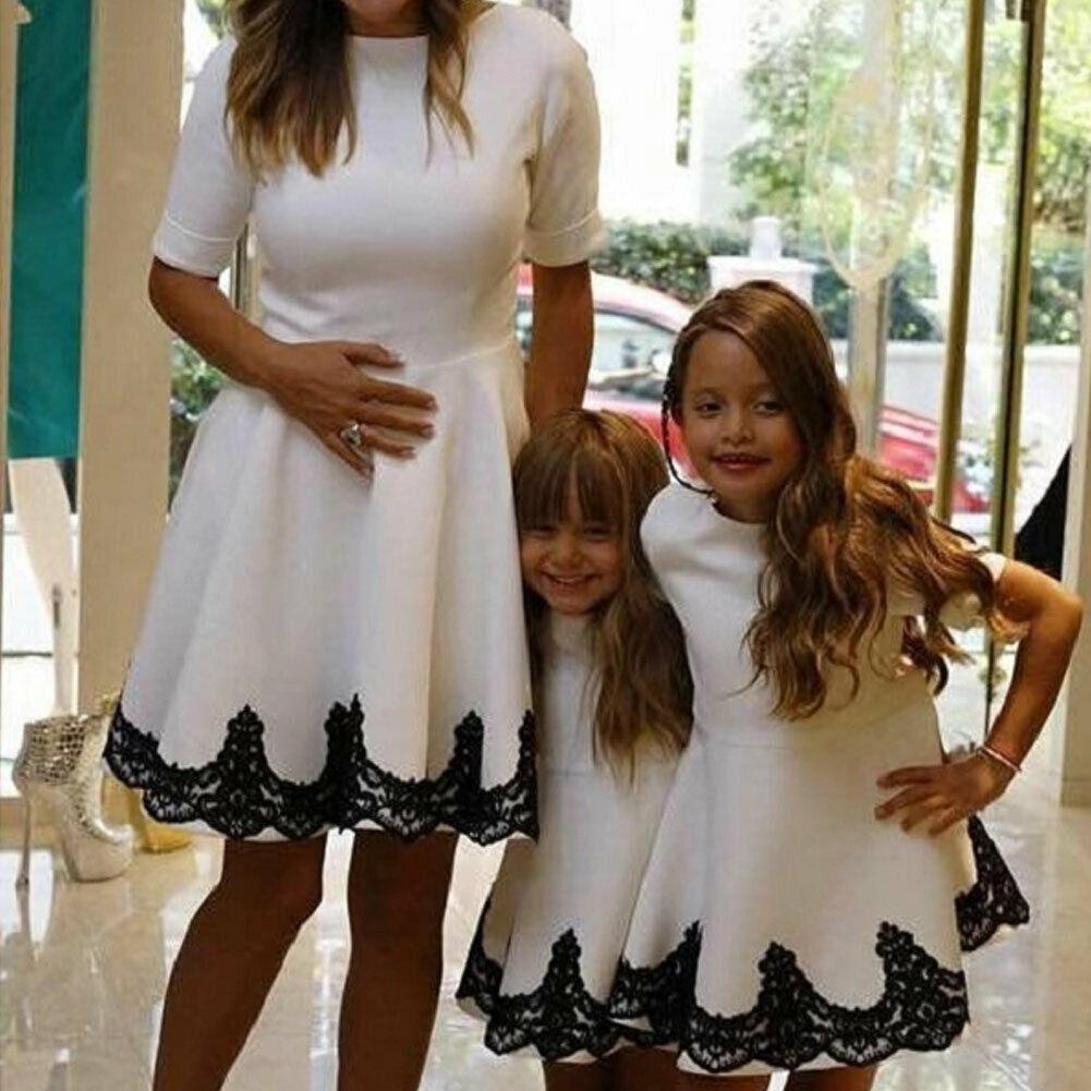 White & black mommy and me dresses http://www.mommininapinch.com/mommy-me-dresses/