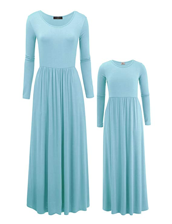 long sleeve maxi mommy and me dresses http://www.mommininapinch.com/mommy-me-dresses/