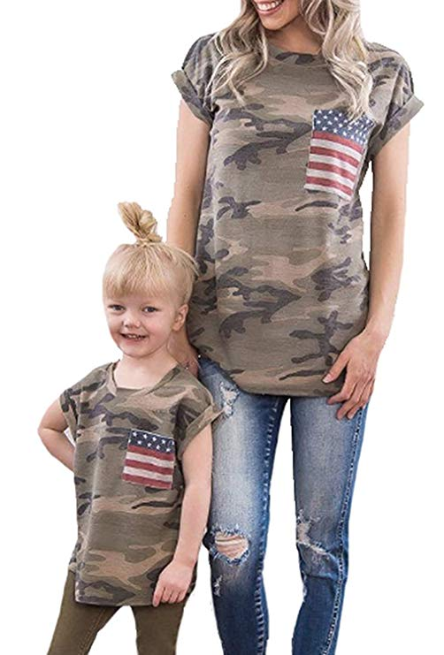Camouflage Mommy and Me t-shirt- www.mommininapinch.com