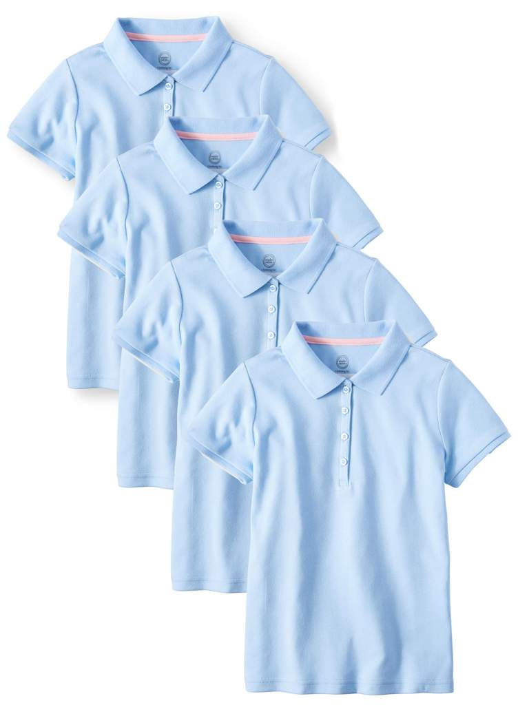 Affordable girls school uniform polo shirts- www.mommininapinch.com