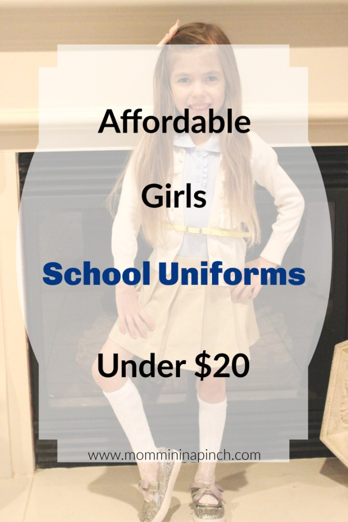 Girls Affordable School Uniforms- www.mommininapinch.com #schooluniforms #backtoschool