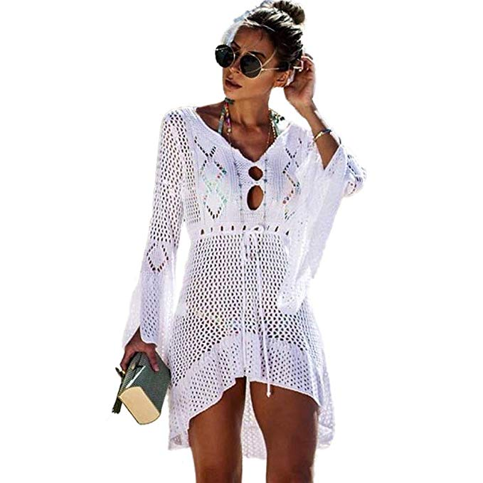 Crochet beach bathing suit cover up- www.mommininapinch.com