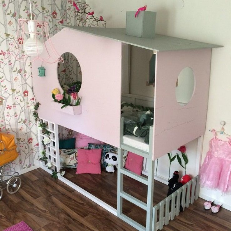 Pink Ikea Kura house