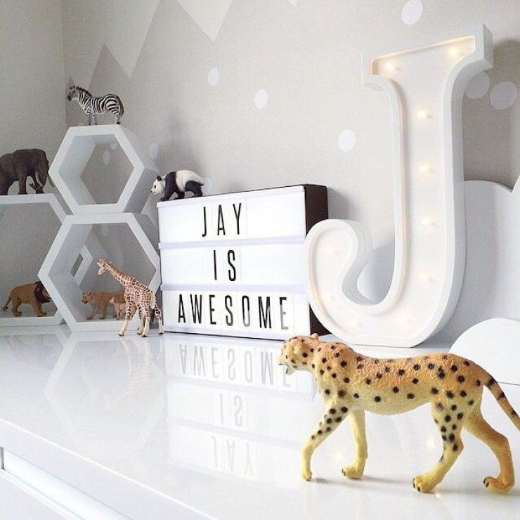 Marquee Sign In Kids Room Mommo Design