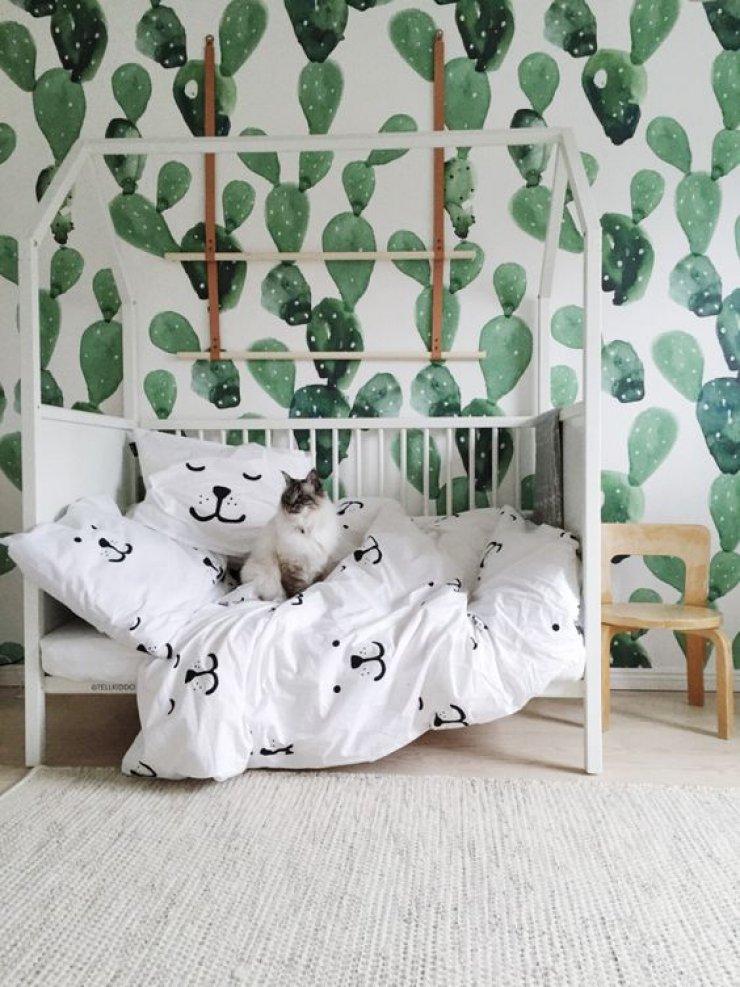 Cute Wallpaper Recycling Cactus Decor Mommo Design