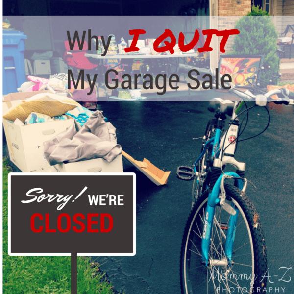 Why I Quit My Garage Sale