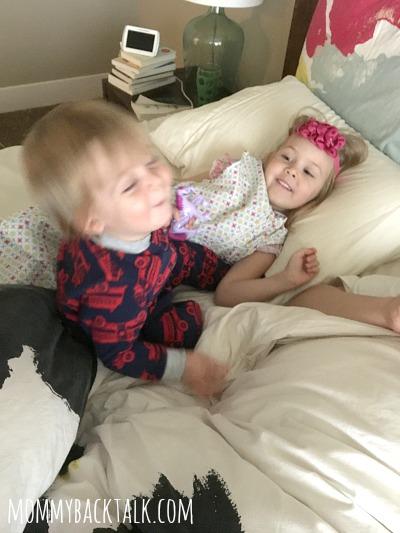 Niels and Margaret in bed, motherhood