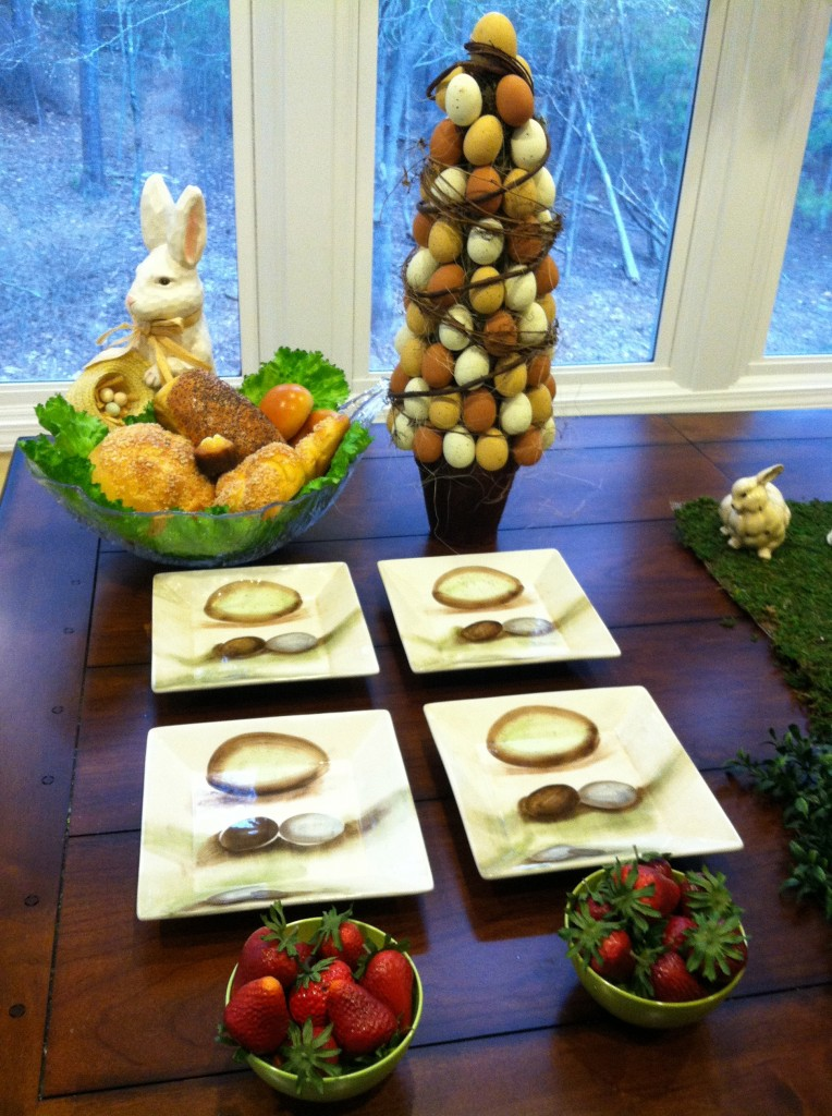 Rustic Easter TableSetting  Easter Decor