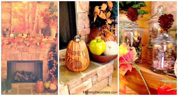Fall Fireplace Decorating Ideas