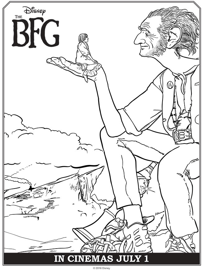 Disney's THE BFG Coloring Pages & Activities #TheBFG