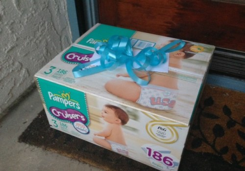 Ding Dong Diaper Ditch with Pampers diapers