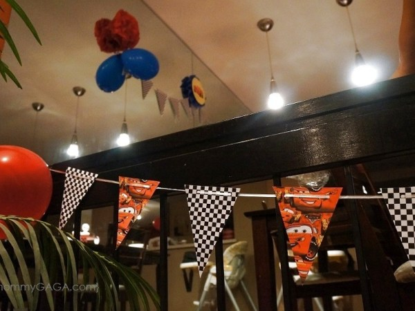 Homemade Disney Cars Pennant Party Banner
