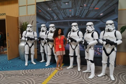 Deanna of mommyGAGA and Star Wars storm troopers