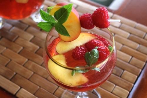 Basil Peach Summer Sangria