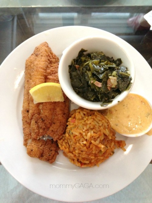 Catfish plate, Cafe Reconcile, New Orleans