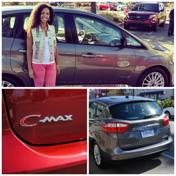Deanna, mommyGAGA with Ford C-Max car