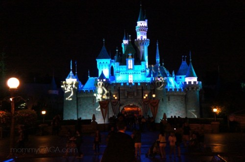 Disneyland Princess castle at night, Halloween time