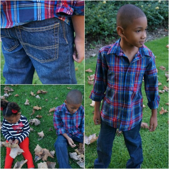 Boy wearing OshKosh Holiday kids clothes