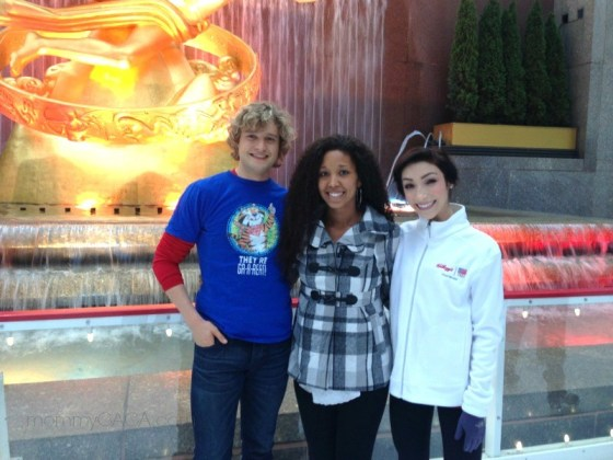 Charlie White, Deanna Underwood, Meryl Davis, Rockefeller Center Ice rink
