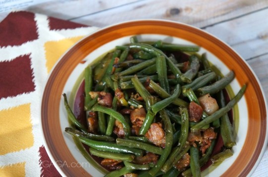 Bacon green bean side dish for Thanksgiving