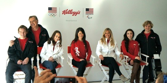 Team USA Olympic athletes panel, Kellogg's 100 days out breakfast