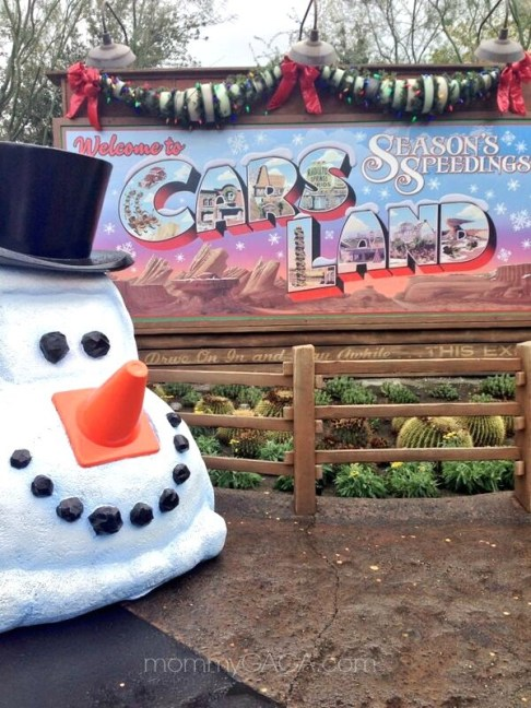 Cars Land in California Adventure, Christmas Time at Disneyland