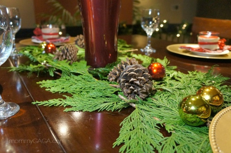Christmas Table Decorations Pine Cones