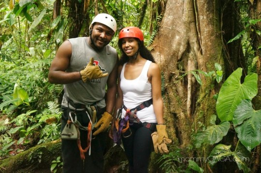 Marviel and Deanna Underwood, zip line adventure in Costa Rica