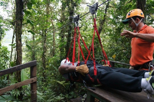 Superman zip line at San Luis Canopy tours, Costa Rica