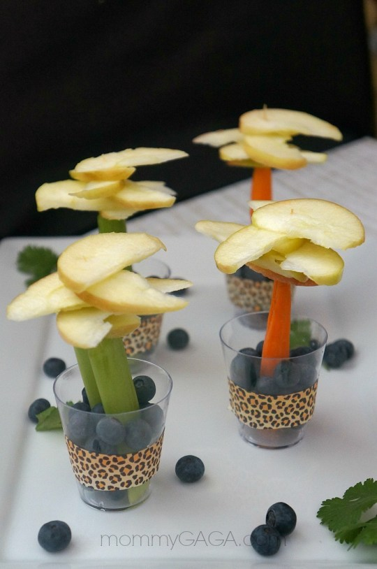 PartyFood Ideas, Jungle Safari Fruit and Veggie Trees